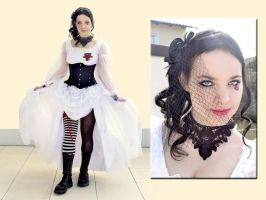 Emilie Autumn inspired look and make-up by DanieOpheliac