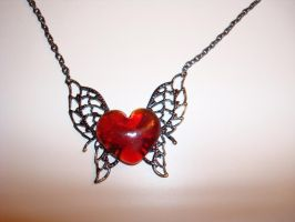 Winged Heart Necklace by omgitskmd