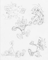 Crash Bandicoot Sketches by E-122-Psi