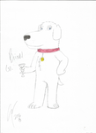 Brian Griffin in my style by WolfDog2662