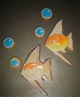 Angelfish Cookies with Bubbles by Akki14
