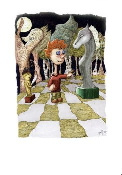 Chess in the Woods-color by the-tea-zombie