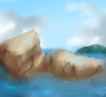 rocks and water by HunterBite