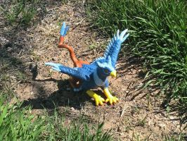 Blue Gryphon, view 4 by Dragonrose36