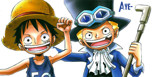 Luffy and Sabo Render by YeYe-Chan