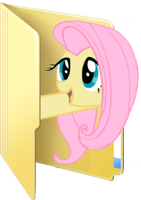 Custom Fluttershy folder icon by Blues27Xx