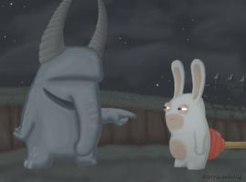 Rabbids Are Slapstick Funny by kittydemonchild