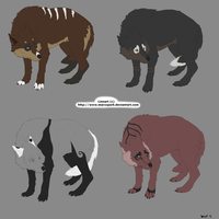 Wolf Adoptables 2 CLOSED by WoofMewMew