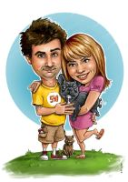 Stanimir and Jordana a family caricature by lioko83