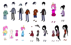 Adventure Time Outfit Sketches by TheCheeseburger