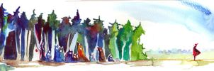 Monsters in forest. by Granks