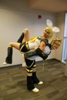 Len and Rin Pose Time by QPUPcosplay