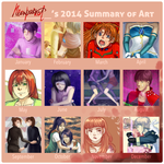 2014 art summary by neonparrot