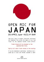 Open Mic for Japan by legley