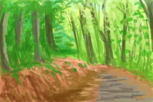 Forest Speed paint colour study by femalefred