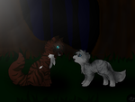 Ivypool and Hawkfrost by TimidFawn