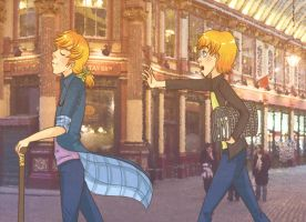 Benjamin Diagon Alley event by voicelesss