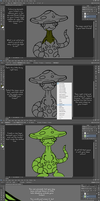 Art Tutorial - Colouring Made Quick and Easy - V2 by Kreaturez