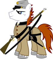 Fleur As Civil War Soldier by Vector-Brony