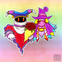 PC: Drawcia and Magolor crowned by aprict