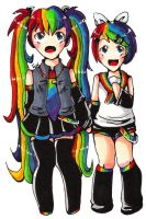 .:upside down reverse rainbow:. by teaunicorn