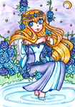Eira In The Flower Garden [COMMISSION] by sekaiichihappy