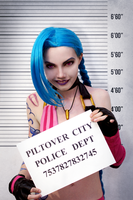 League of Legends | Jinx - Piltover City Police by Shredinger-Cat