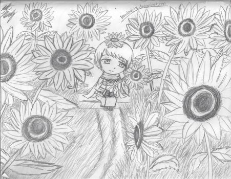 The Sunflower Garden by domolover13
