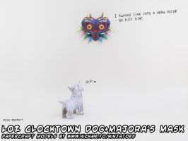 Majora's Mask papercraft+dog by ninjatoespapercraft