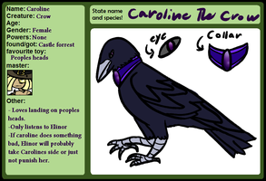 MF Pet Sheet - Caroline by Sad-Senpai
