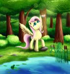 Fluttershy in the Forest by Fox-Moonglow