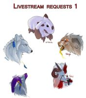 Livestream requests 1 by Shien-Ra