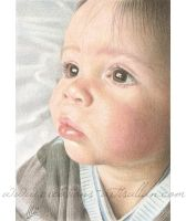 Colored pencil art - Aaron by ArtisAllan