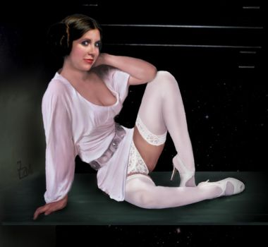 dark side seduction - Princess Leia by zami59