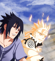 Naruto And Sasuke by gaston18