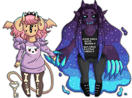 monster babes [commission] by glitchedgalaxy