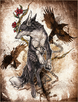 :.Black Raven.: by WhiteSpiritWolf
