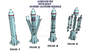 AA/AGM-520 Star Bolt Guided Cluster Missile by Scryer117
