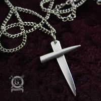 Silver Fork Tine Cross by Doctor-Gus