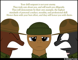 The drill sergeant by FirstAwesomePlatoon