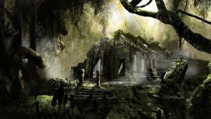 Temple In The Mist by White-Cyanide