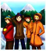 South Park boys by Azareea