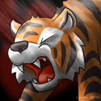 Chibi Tiger Battle Cry by princess-phoenix
