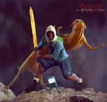 Finn and Jake adventure Time by foxymophandlema