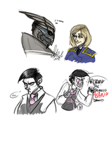 Mass Effect and also Dennis by Wolf-Shadow77