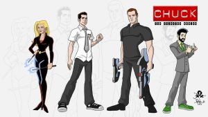 CHUCK - The Animated Series Model Sheet by RobCabrera