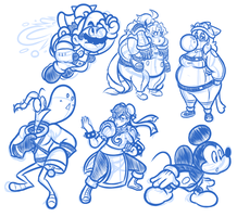 Some More Character Sketches by JamesmanTheRegenold