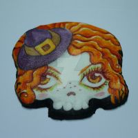 halloween chocolate cookie skull ginger witch by ALI-MALBICHO