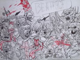 Dante vs. Horde by BobofWar17