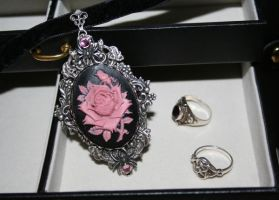 Rose Garden Choker by Autumn-frost-angel